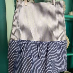 Jcrew stripe skirt
